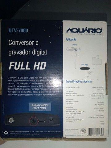 Esta semi novo Vendo  conversor e gravador digital  - Foto 4