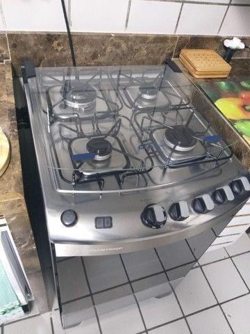 Fogão Brastemp Inox 4 bocas com grill - Foto 4