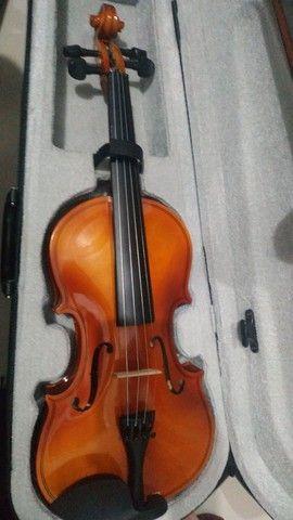 Violino 450,00 ( aceito troca por contrabaixo ou monitores de referência) - Foto 3