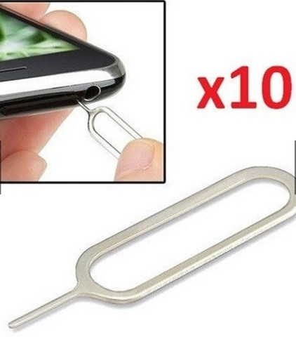 10 Pçs Removedor de cartão Sim Ejetar Pino Ejetor Ferramenta iPhone 6 5S 4S 4 3 iPad ETC