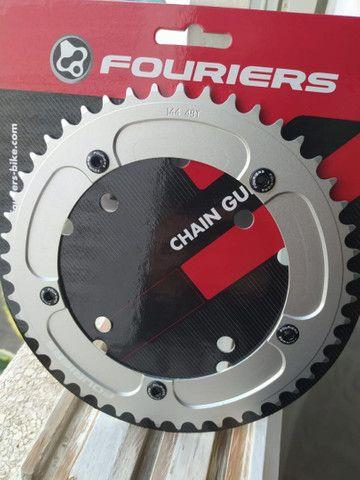 Coroa alumínio Fouriers 48 dentes bike fixa pista BDC 144 single speed