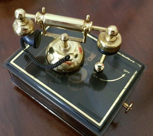 Caixa de Música Antiga com telefone Anos 90     - Foto 2