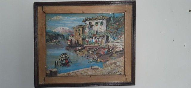 quadro do  pintor Tomaz A.Ribas 1986 - Foto 4