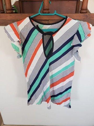 Lote de 2 blusas femininas (tamanho M) - Foto 3