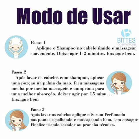 3 Kit Lipo Capilar Bittes Hair Menthol Ice Desemborrachante Cabelos Macios Brilhosos - Foto 2