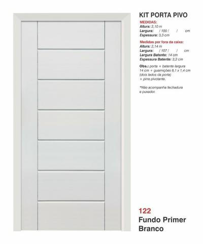 Porta pivotante branco primer 1 m