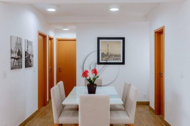 Apartamento com 3 dormitórios para alugar, 90 m² por r$ 2.800/mês - jardim bela vista - sa