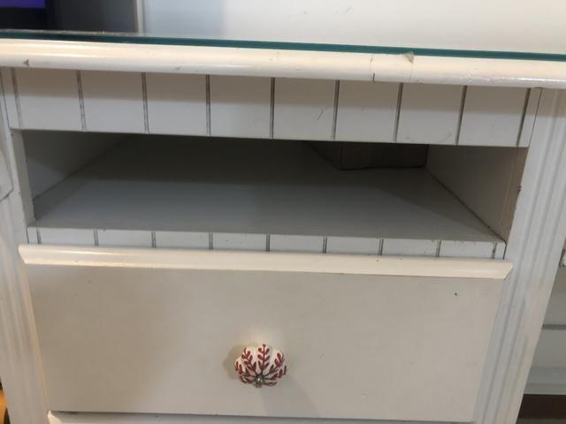 Escrivaninha branca em madeira - Foto 3