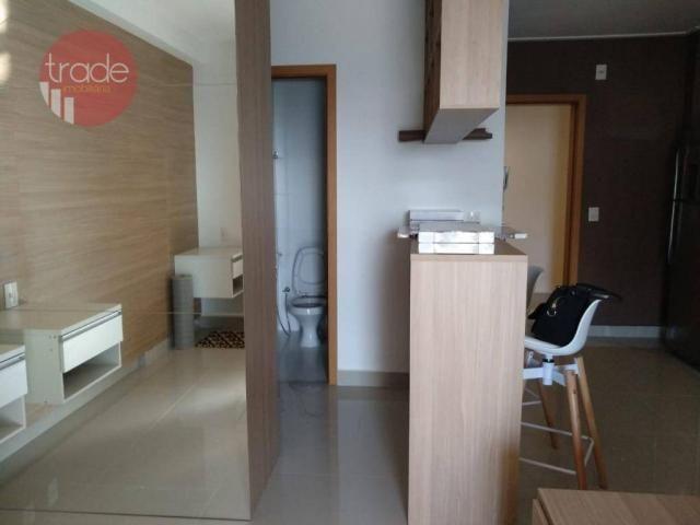 Flat com 1 dormitório para alugar, 44 m² por r$ 1.800,00/mês - bosque das juritis - ribeir - Foto 3