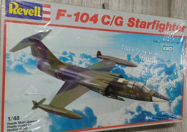 Avião de plástico para montar do Lockheed F-104C/G Starfighter, escala 1/48, da Revell