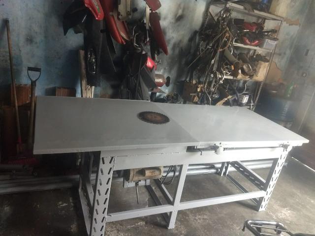 Mesa para cortar madeira (PREÇO A NEGOCIAR) - Foto 2