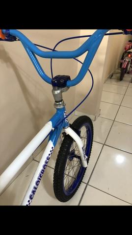 Bicicleta Caloi Cross extra light relíquia antiga 1983 aro20 - Foto 5