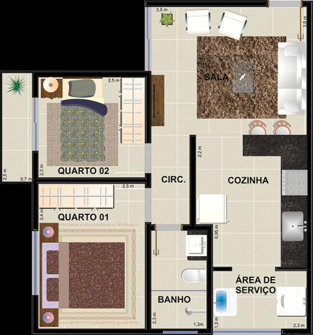 Apartamento à venda com 2 dormitórios em Jardim candelaria, Divinopolis cod:11443 - Foto 15