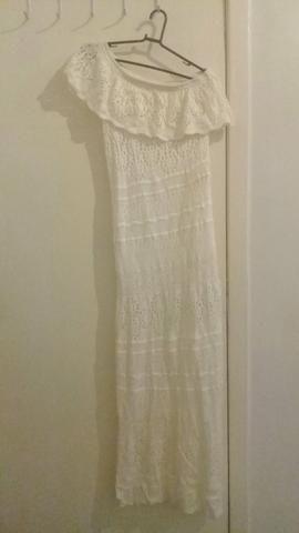 Vestido de linha bege longo - Foto 4