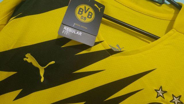 Camisa do Borussia Amarela Masculina 2020/21 - Foto 3