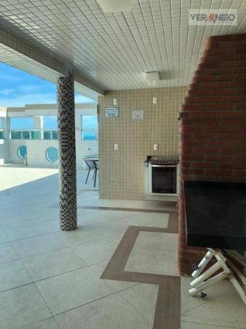 Apartamento com 2 dormitórios para alugar, 99 m² por R$ 3.100,00/mês - Canto do Forte - Pr - Foto 12