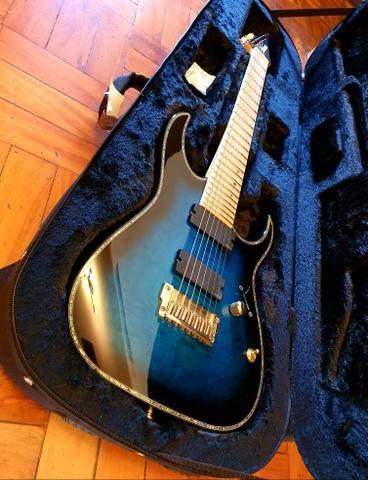 Ibanez iron label RGIX27FEQM SBS Sapphire Blue premium prestige Jem js1000 rg550