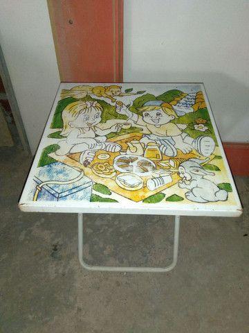 Conjunto infantil, mesa c2 cadeiras preço de desapego - Foto 4