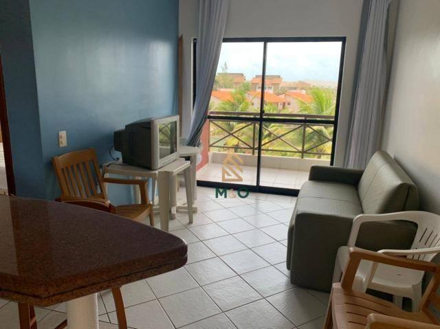 Apartamento com 1 dormitório para alugar, 52 m² por R$ 1.300/mês - Porto das Dunas - Aquir - Foto 9