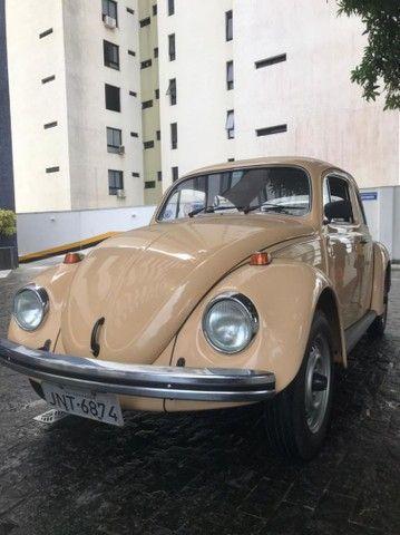 VW Volkswagen Fusca 1600 Álcool 1984 Placa Mercosul Preta Colecionador - Foto 6
