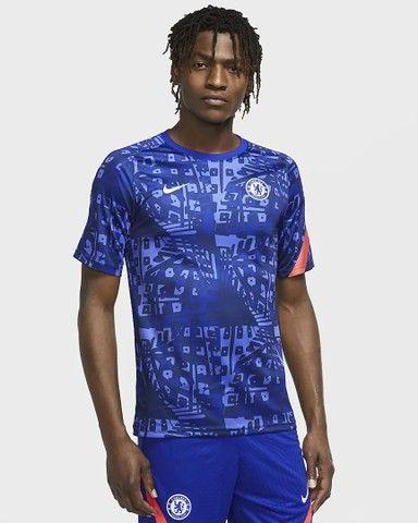 Camisa Chelsea importada pré jogo 2020/2021 - Foto 2