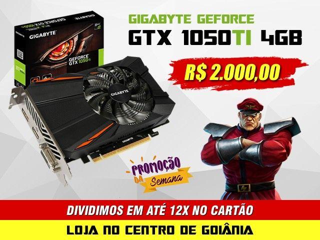 Placa de vídeo Gigabyte GTX 1050TI 4GB 128BITS - Lacrado e Nota Fiscal