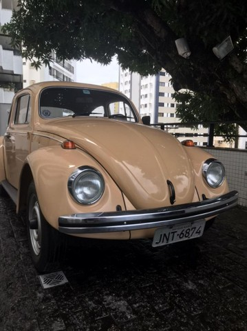 VW Volkswagen Fusca 1600 Álcool 1984 Placa Mercosul Preta Colecionador