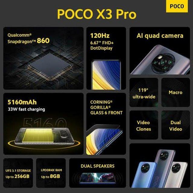 Celular Xiaomi Poco x3 Pro 8ram 256GB lançamento + Brinde lacrado  - Foto 6