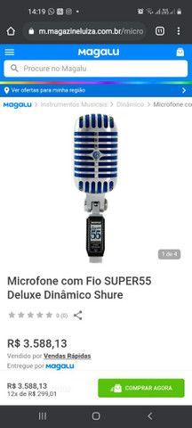 Microfone com Fio SUPER55 Deluxe Dinâmico Shure<br><br>