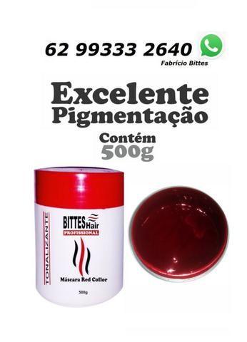 Máscara Matizadora 500 g Red Tonalizante Red Collor Vermelha Bittes Hair Profissional