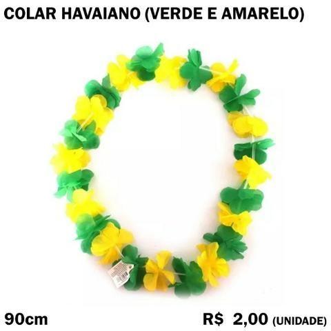 Cordão Havaiano Brasil Verde e Amarelo