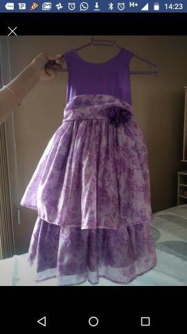Vestido de princesa, veste até 5 anos