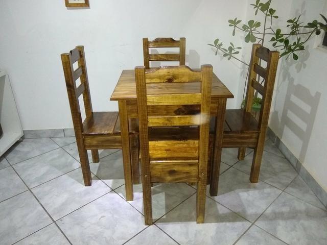 Mesa com 4 cadeiras conjunto Cintia plus direto da fábrica - Foto 4