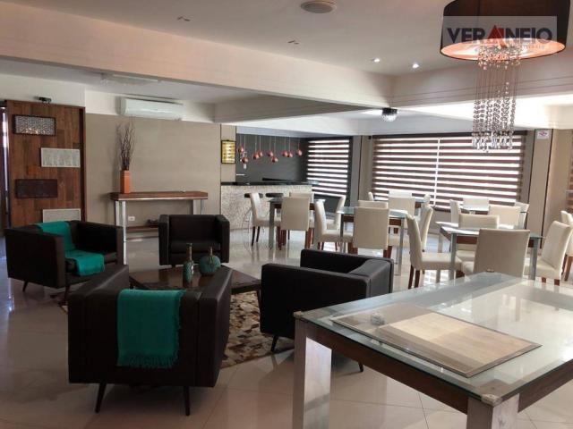 Apartamento com 2 dormitórios para alugar, 99 m² por R$ 3.100,00/mês - Canto do Forte - Pr - Foto 6