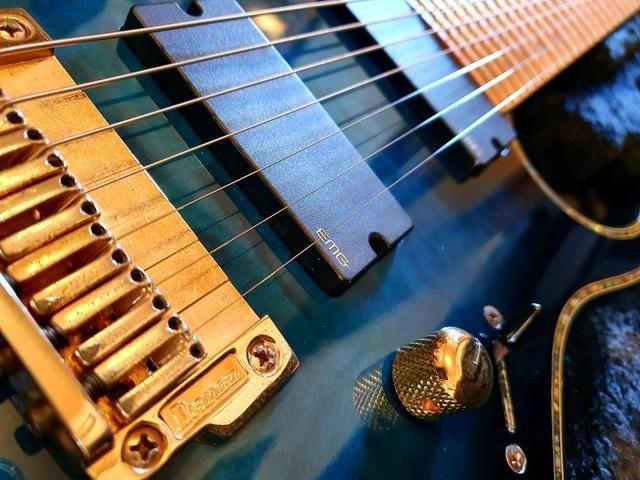Ibanez iron label RGIX27FEQM SBS Sapphire Blue premium prestige Jem js1000 rg550 - Foto 3