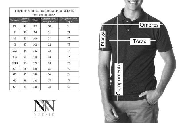 Camisa Polo Masculina Nova Vinho (Entrega Grátis Uberaba/MG) - Foto 5