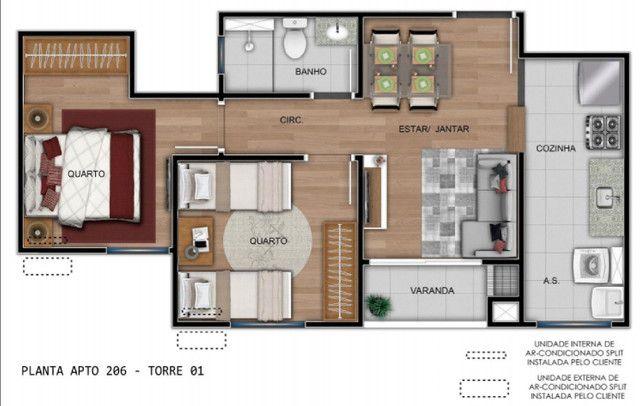 Apartamento 2D, sacada com churrasqueira, próximo a Av. Baltazar - Entrada Parcelada! - Foto 2