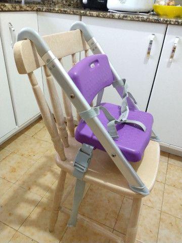 Cadeira portátil refeição lilás Litaf - Foto 2