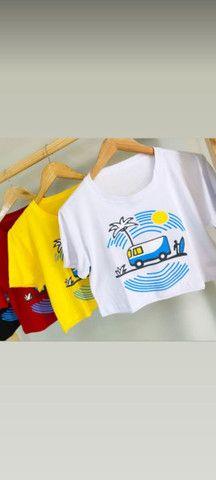 Mini croppd e T-shirts a pronta entrega - Foto 5