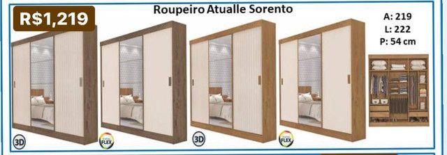 Roupeiro Atualle Sorento portas de correr espelho 20230