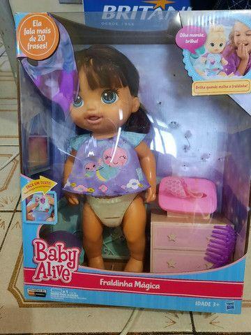 Boneca baby alive fraldinha magica