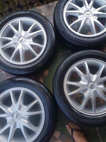 """Rodas 15"""" 4x114 com pneus. - Foto 6"""