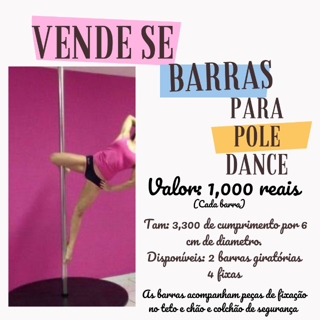 Vendo barra de pole dance com bolacha acolchoada