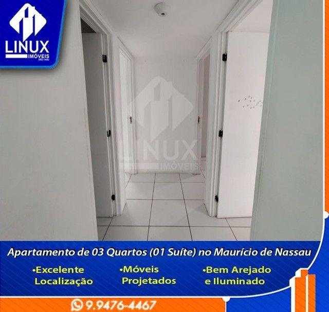 Alugo Apartamento de 3 Quartos (1 Suíte) com 88 m² no Maurício de Nassau em Caruaru/PE. - Foto 2