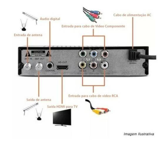 Conversor De Tv Digital Sinal Isdb-t Top Box Usb Grava Programação em Pen Driver! - Foto 3