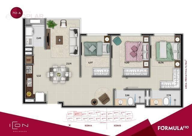Apartamento com 2 dormitórios à venda, 58 m² por r$ 520.899,49 - centro - balneário cambor - Foto 16