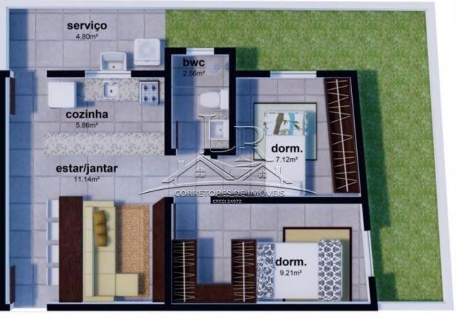 Apartamento à venda com 2 dormitórios em Ingleses do rio vermelho, Florianópolis cod:1512 - Foto 3