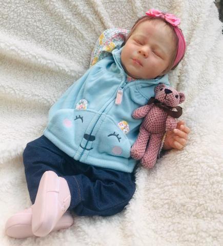 Bebê reborn olhos fechados - Foto 3
