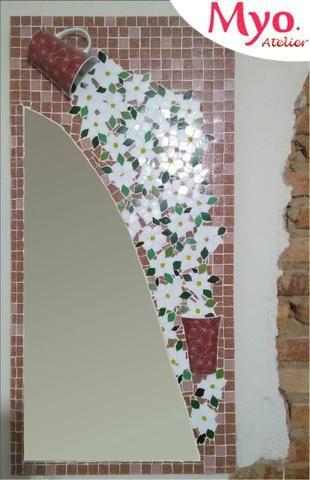 Quadro mosaico, espelho mosaico, decoração, mosaico - Foto 3