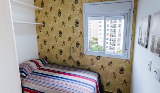 Apartamento com 3 dormitórios para alugar, 90 m² por r$ 2.800/mês - jardim bela vista - sa - Foto 15